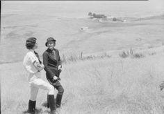 Two women on Palos Verdes Rancho 1935.