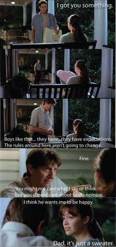 A Walk To Remember...hahaa, stereotypical parents reaction to everything.