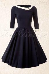 The Pretty Dress CompanyNavy Mistress Mad Men Vintage Swing dress