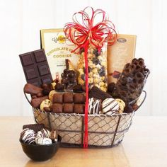 Chocolate Delights Basket Gift Basket - 5681