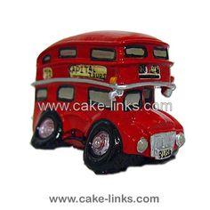 London Bus Cake Topper