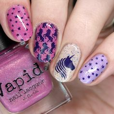 Nail Polish Society>> UberChic Beauty Unicorn Love and Texture-Licious 02 Stamping Plates Review