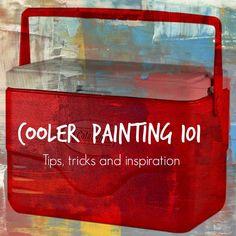 Texasweettea: Cooler Painting 101