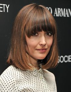 Rose Byrne's controversial long bob with those über-heavy face-framing bangs