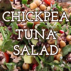 This Chickpea Tuna Salad with homemade lemon dressing is a great dish that you can serve for picnics, barbecue parties, brunch or a simple lunch. It is also perfect for a quick and easy meal prep. Healthy Salad Recipes, Healthy Snacks, Vegetarian Recipes, Healthy Eating, Cooking Recipes, Simple Healthy Recipes, Easy Recipes, Canned Tuna Recipes, Healthy Tuna Salad