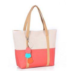 Towallmark 1PC Sweet Elegent Mixed Color Totes Chain Pendants Hobo Shoulder Bag Handbag (Beige)