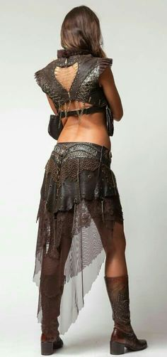 Two layers Leather Viking pixie skirt larp Steampunk wasteland BC warrior Mad Max Burning Man Medieval skirt post apocalyptic pagan