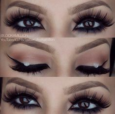 why did they mess it up with that white spot? gorgeous otherwise Makeup Geek, Makeup Addict, Beauty Makeup, Eye Makeup, Hair Makeup, Soft Smokey Eye, Makeup Tattoos, Makeup Obsession, Stunning Eyes