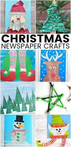 Recycle old newspapers to make one of these awesome Christmas newspaper craft ideas. Fun Christmas crafts for kids and Christmas arts and crafts ideas.