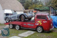 t2 autotransporter met porsche 911 motor volkswagen
