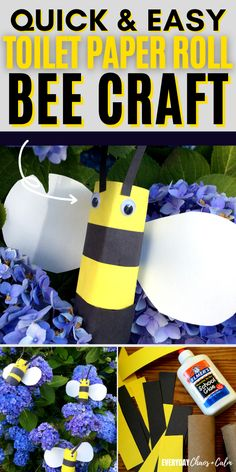 Are you looking for a simple craft to do with your kids? Try making this easy toilet paper roll bee craft! It's great for preschoolers or as part of unit study on bees or insects! This easy kids craft is simple and includes supplies you probably already have on hand. Great indoor activity for toddlers or preschoolers!