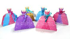 PRINTABLE 6 Princess Dresses Favor Boxes PDF Birthday by marlicg, $27.00