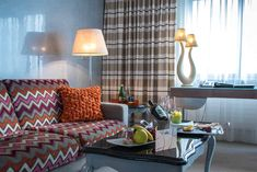 Farbenfrohes im Hotel Eden Roc in Ascona Design Hotel, Hotel Eden, Das Hotel, Sofa, Couch, In This Moment, Hotels, Furniture, Home Decor