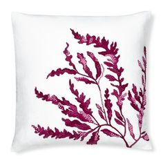 Sea Kelp French Knot Pillow Cover, Berry #williamssonoma