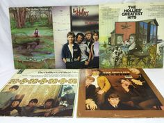 The Hollies Lot of 5 Vinyl Records Distant Light Bus Stop Greatest Hits Around