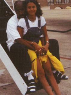 Tupac Shakur & Kidada Jones waiting to leave for Italy