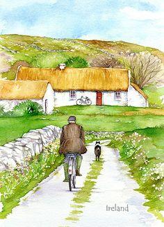191 Returning home in Ireland, Fridge magnet, Pat Flavell - 191MAG