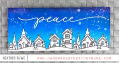 Peace Slimline Card - Handmade by Heather Ruwe