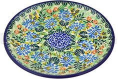 Polish Pottery #polishpottery #pottery #ceramics #cheeselady #cheeseladies #beautiful #art #crafts #dinnerware #homedecor #lovethis #wantthisinmyhome #design #wonderful #needthis #kitchen #plate #flowers #lovely #blue #green #spring #food #mealprep #entertaining #party #eating #dinner #lunch