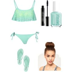Destin beach outfit #1 by amberpend on Polyvore featuring polyvore, fashion, style, Boohoo, Tkees, Lord & Berry and Essie