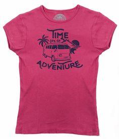 Women's Time For An Adventure T-Shirt - Juniors Fit