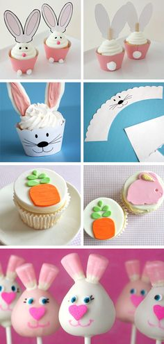Great ideas for decorating cupcakes and some fun printables.