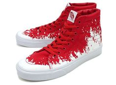 These #Vans Sk8 Paint Stomp #Sneakers Kill the Half Pipes trendhunter.com