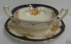 *Very pretty...Grindley The Corona cream soup and saucer