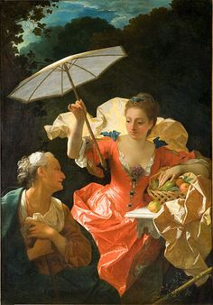 Jean Ranc Vertumnus and Pomona (Musée Fabre, Montpellier) Montpellier, Mode Renaissance, European Costumes, Fabre, Umbrellas Parasols, Under My Umbrella, Umbrella Art, European Fashion, European Style
