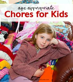 A great list of chores for your kids! Listed by age, this will show you which chores your child is capable of performing.