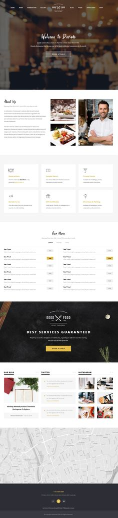 Dorado is simple and beautiful look premium #PSD theme for Restaurant, Cafe or #Food business #website. Download Now!