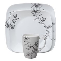 Corelle® Square™ Favourite Fleur 16-Pc Dinnerware Set - World Kitchen  sc 1 st  Pinterest & Corelle® Boutique™ Emma Jane 16-pc Dinnerware Set - Corelle | China ...