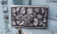 Business Card Holder Pirate Business Card by PiecesofhomeMosaics, $32.00