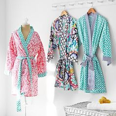 Cozy Cotton Robe In clover pattern with monogrammed initials SHA 12 Year Old Birthday Party Ideas, Girl Sleepover, Fuzzy Slippers, Teen Girl Gifts, Teal And Grey, Bridesmaid Robes, Pbteen, Pink Outfits, Classy And Fabulous