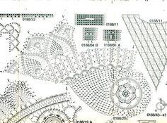 Gallery.ru / biala kwadratowa serwetka - Serwetki duze i male-szydelko - himmelin