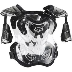 Fox Racing NEW Mx R3 Black Chest Protector Motocross Body Armour Roost  Deflector Závody Lišek c16d9b77f4