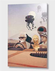 """Fear and Loathing on Tatooine"", Numbered Edition Aluminum Print by Anton Marrast - From $69.00 - Curioos"