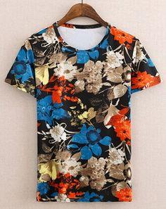 Blue tropical flower print short sleeve shirt #riverisland ...