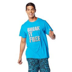 Break it free and bust a move in the all-new Break It Free #Zumba Tee. Stay dry and fly while you shake and shimmy all class long!