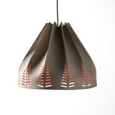 Shoebox Dwelling, recycled materials pendant lighting