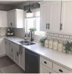home decor kitchen cool 52 Cozy Color Kitchen Cabinet Decor Ideas Home Decor Kitchen, Farmhouse Kitchen Decor, Kitchen Decor, Kitchen Cabinets Decor, New Kitchen, Kitchen Redo, Home Kitchens, Kitchen Renovation, Kitchen Design