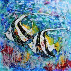 Angel Fish 36x36 acrylic