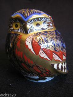 Royal Crown Derby 'Little Owl' Porcelain Paperweight Silver Stopper C 1998 EX | eBay