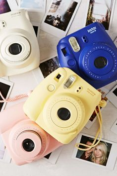 Blue Fujifilm Instax Mini 8 Instant Camera | 100, takes Polaroid pictures