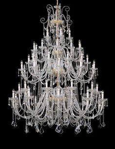 Lead crystal chandelier - traditional - chandeliers - other metro - Topdomus by Elettromarket illuminazione Glass Chandelier, Chandelier Lighting, Crystal Chandeliers, Contemporary Chandelier, Unique Lighting, Light Fittings, Hand Blown Glass, Ceiling Lamp, Light Decorations