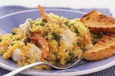 Monkfish and prawn Pilau