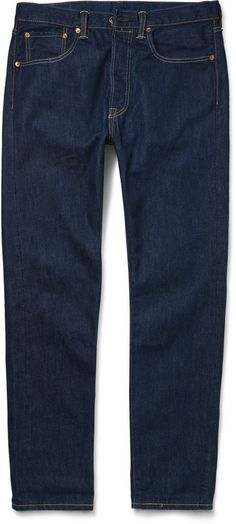 $80, Navy Skinny Jeans: Levi's 501 Ct Jeans 501 Ct Slim Fit Jeans. Sold by MR PORTER. Click for more info: https://lookastic.com/men/shop_items/308224/redirect
