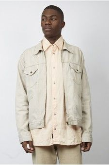 Vintage 90\u0027s beige Levi\u0027s zip denim jacket