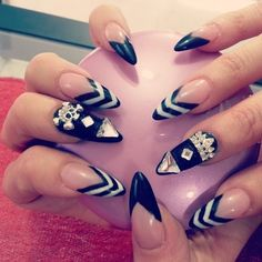 Black Stiletto Nails  | See more at http://www.nailsss.com/colorful-nail-designs/3/