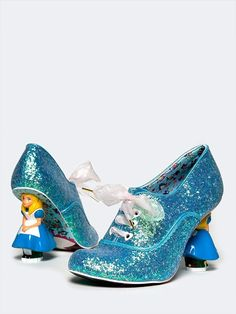 """""""Tea with Alice"""" Alice in Wonderland inspired boots by Irregular Choice, OMG."""